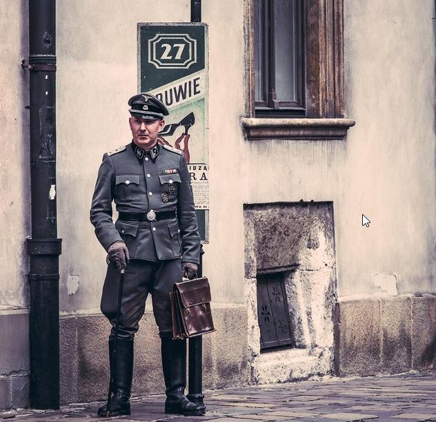 Secuencia del rodaje de una película en las calles de Cracovia. Foto vía Instagram: @ka5ch
