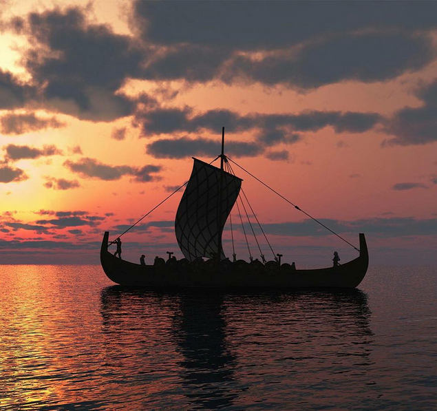 Barco Vikingo. Foto vía Instagram: @clive_standen