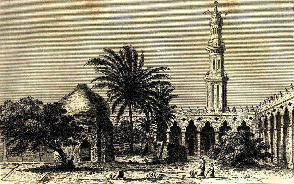 Alejandría. El patio de la Mezquita de Attarina en 1798