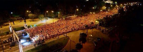 Carrera Nocturna del Guadalquivir. Foto vía Instagram: @danidudupoufo