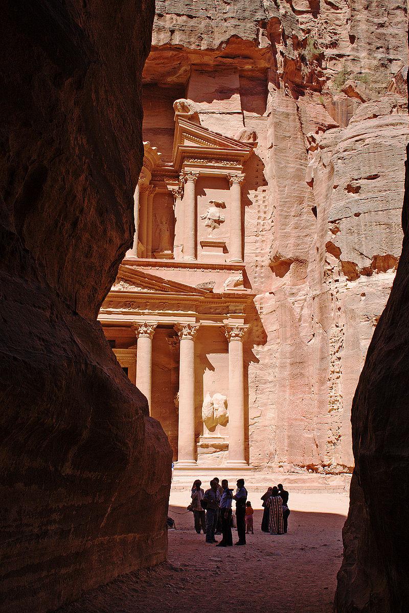 El Tesoro de Petra, uno de los monumentos más fotografiados. Foto: David Bjorgen.