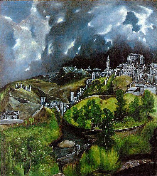 Vista de Toledo, por El Greco en torno al año 1600